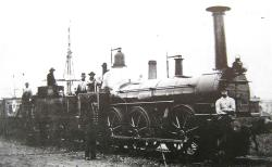 TVR locomotive and railway policemen c.1850