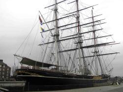 The Cutty Sark in London in 2007 before the fire