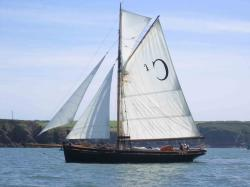Cariad, built 1904, at Milford Haven in 2008